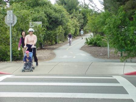 Image of pedestrians enjoying the Greenway
