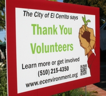 Thank You Volunteers Sign