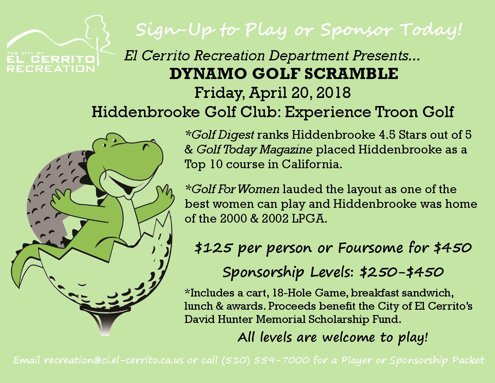 Golf Dynamo Scramble 2018